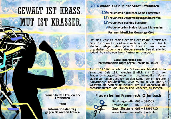 Flyer - Gewalt is krass, Mut ist krasser